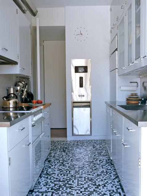 Siyah-Beyaz bir mutfak
