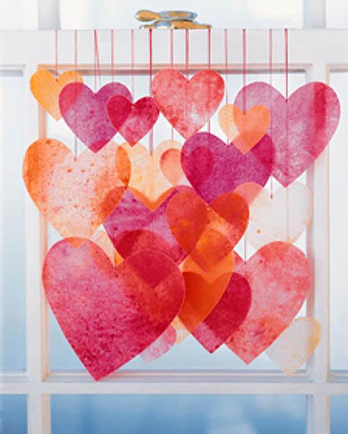 Kraft Kampı- Erimiş pastelden yapılan kalpler