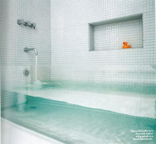 Cam duş teknesi